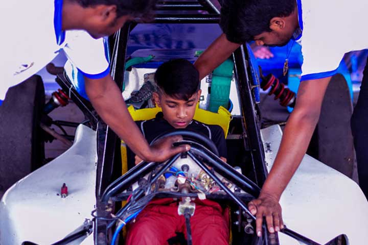 14-Years Tijil Youngest Racer In Formula LGB 1300